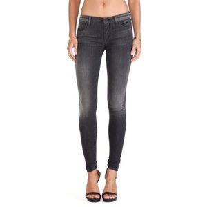 MOTHER - The Looker Black Ultra Skinny Jeans